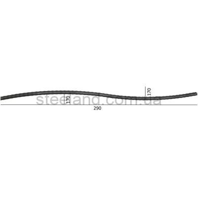 L 2900 х H 170 мм  труба: 40 х 25 вальцованная