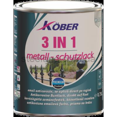 Антикоррозийная эмаль 3 в 1 гладкая глянцевая Kober 0,75л